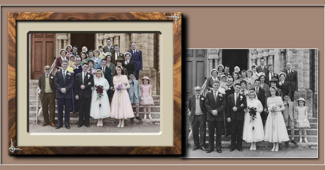 Old Wedding Photo Colouring for A Golden Anniversary