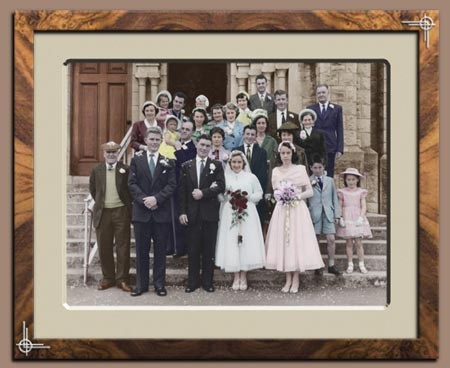 Wedding Photo Restoration - Black and White to Colour