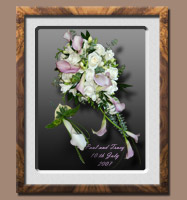 Wedding Bouquet and Buttonhole Pastel Lilac